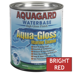 Aquagard Aqua Gloss Waterbased Enamel - Quart - Bright Red