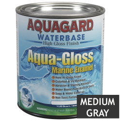 Aquagard Aqua Gloss Waterbased Enamel - Quart - Medium Gray