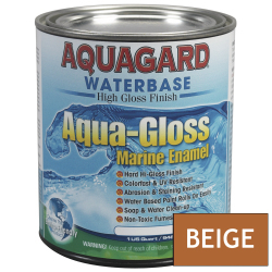 Aquagard Aqua Gloss Waterbased Enamel - Quart - Down East Buff Beige