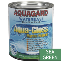 Aquagard Aqua Gloss Waterbased Enamel - Quart - Sea Green