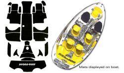SeaDoo Speedster 1998-1999 Jet Boat Cut Groove Mat Kit - Hydro-Turf