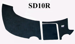 SeaDoo Islandia 2000-2008 (Flat Only) Jet Boat Boarding Platform Cut Diamond Mat Kit - Hydro-Turf