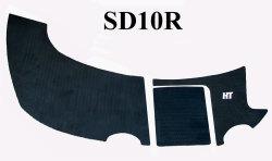 SeaDoo Islandia 2000-2008 (Flat Only) Jet Boat Boarding Platform Cut Groove Mat Kit - Hydro-Turf
