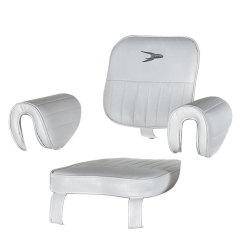Deluxe Pilot Seat 007 Complete Cushion Replacement Set - Wise Boat Seats