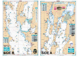 Lake Champlain Fishing North - Waterproof Charts