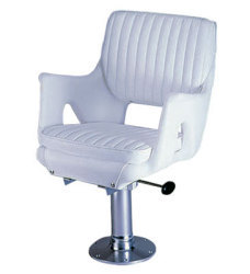 050 Premium Roto Molded Helm Seat Package with Cushions, Pedestal and Gimbal - Garelick