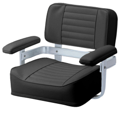 061 Heavy Duty Seat with Welded Frame, Black - Garelick