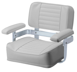 061 Heavy Duty Seat with Welded Frame, Grey - Garelick