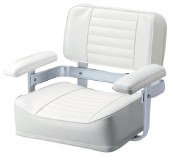 061 Heavy Duty Seat with Welded Frame, White - Garelick