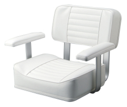 251 Heavy Duty Seat with Standard Frame, White - Garelick