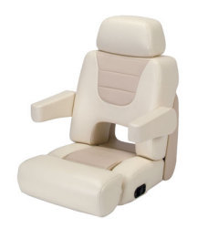 Eez-In Commander II Yacht Helm Seat, Light Almond/Tan - Garelick