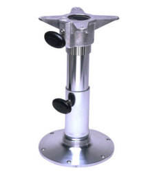"Polished 18""-24"" Adjustable Height Seat Base - Garelick"