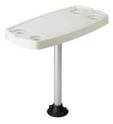 "Complete Quick Release Table Pedestal System with 16""x32"" Rectangular Table Top - Garelick"