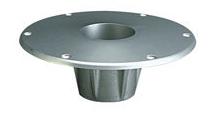 Flush Mount Socket Base for Salon Table Pedestal System - Garelick