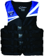 Evolution Deluxe 4-Belt Nylon Ski Vest - Blue/Black