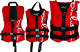 Kent Kids Neoprene Flex Fit Vest - Red/Black