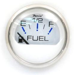 Chesapeake SS White Fuel Gauge - Faria