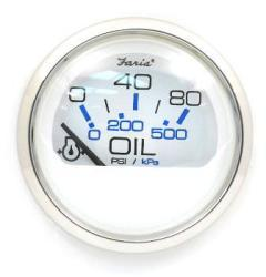 Chesapeake SS White Oil Pressure 80Psi Gauge - Faria