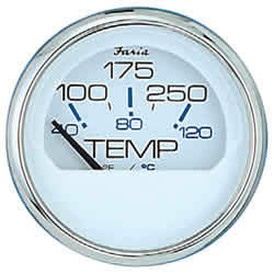 Chesapeake SS White Water Temperature Gauge - Faria