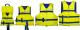 "Jumbo Universal 40-60"" Nylon Life Jacket/Vest Yellow /Navy Type III - Evolution"