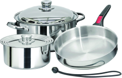 7 Piece 18-10 Stainless Steel Set - Magma