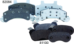 Organic Brake Pad Kit for Vented Disc Brakes - Tie Down Engineering