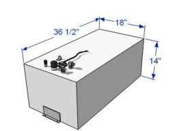 39 Gallon Below Deck Aluminum Fuel Tank 59055 - RDS