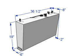 20 Gallon Below Deck Aluminum Wedge Fuel Tank 59166 - RDS