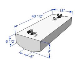 30 Gallon Below Deck Aluminum Belly Fuel Tank 59181 - RDS