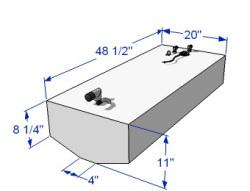 40 Gallon Below Deck Aluminum Belly Fuel Tank 59182 - RDS