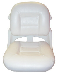 Fishermans Armless Low Back Boat Helm Seat, White - Tempress
