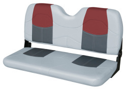 "Blast-Off Tour Series 42"" Bench Seat, Gray-Charcoal-Red - Wise Boat Seats"