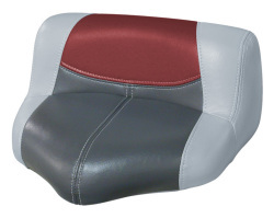 Blast-Off Tour Series Pro Casting Seat Pro-Lean Design, Gray-Charcoal-Red - Wise Boat Seats