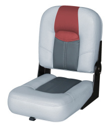 "Blast-Off Tour Series 14"" Buddy Seat, Gray-Charcoal-Red - Wise Boat Seats"