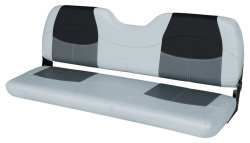 "Blast-Off Tour Series 58"" Bench Seat, Gray-Charcoal-Black - Wise Boat Seats"