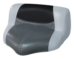 Blast-Off Tour Series Pro Casting Seat Pro-Lean Design, Gray-Charcoal-Black - Wise Boat Seats