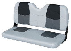 "Blast-Off Tour Series 42"" Bench Seat, Gray-Charcoal-Black - Wise Boat Seats"