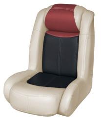Blast-Off Tour Series High Back Bass Bucket Seat, Mushroom-Black-Red - Wise Boat Seats
