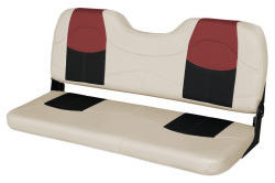 "Blast-Off Tour Series 48"" Bench Seat, Mushroom-Black-Red - Wise Boat Seats"