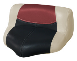 Blast-Off Tour Series Pro Casting Seat Pro-Lean Design, Mushroom-Black-Red - Wise Boat Seats