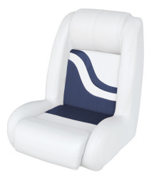 Bucket Seat Weekender Series, White-Navy - Wise Boat Seats