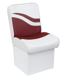 Jump Seat Weekender Series, White-Red - Wise Boat Seats