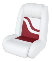 Bucket Seat Weekender Series, White-Red - Wise Boat Seats