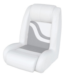 Bucket Seat Weekender Series, White-Gray - Wise Boat Seats