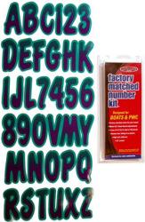 Letter/Number Set Grn/Purp PUTEG200 - Hardline