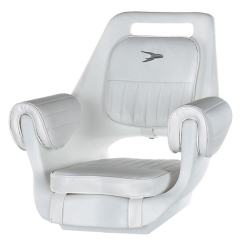 Deluxe Pilot Seat 007 with Cushions and Mounting Plate - Wise Boat Seats