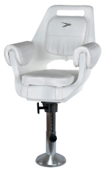 Deluxe Pilot Seat 007 with Cushions, Mounting Plate, 12-18