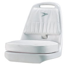 Standard Pilot Seat 013 with Cushions and Mounting Plate - Wise Boat Seats