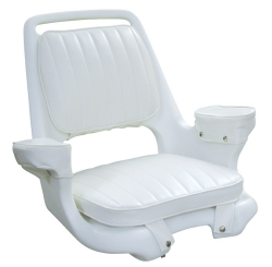 Captain Chair 1007 with Cushions and Mounting Plate - Wise Boat Seats