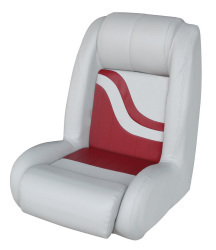 Bucket Seat Weekender Series, Gray-Red - Wise Boat Seats